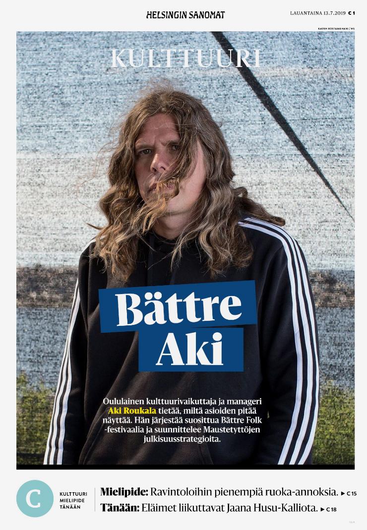 Helsingin Sanomat, July 13th 2019