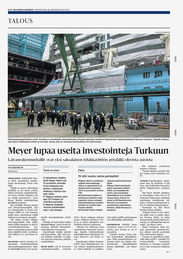 Helsingin Sanomat, November 28, 2014