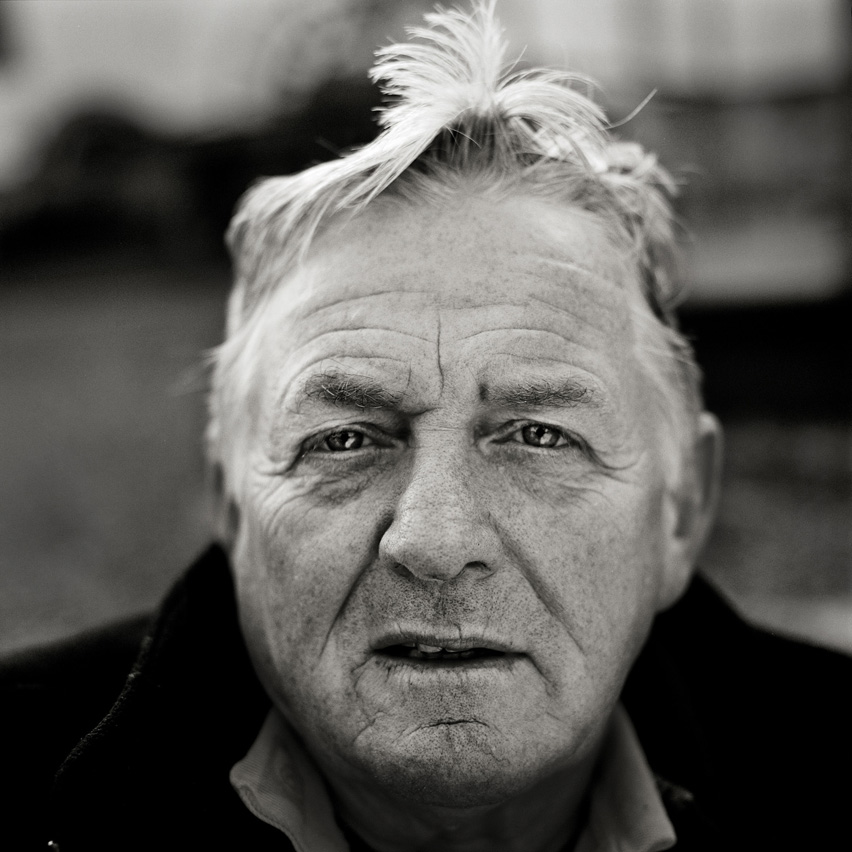 "Gerald Goodway, nicknamed ""Barlow"" a former miner, aged 58, poses for a portrait in Blanaevon, Wales. He remembers mining as ""hard work, but mostly enoyable."" and now works as a guide in the National Coal Mining Musuem."