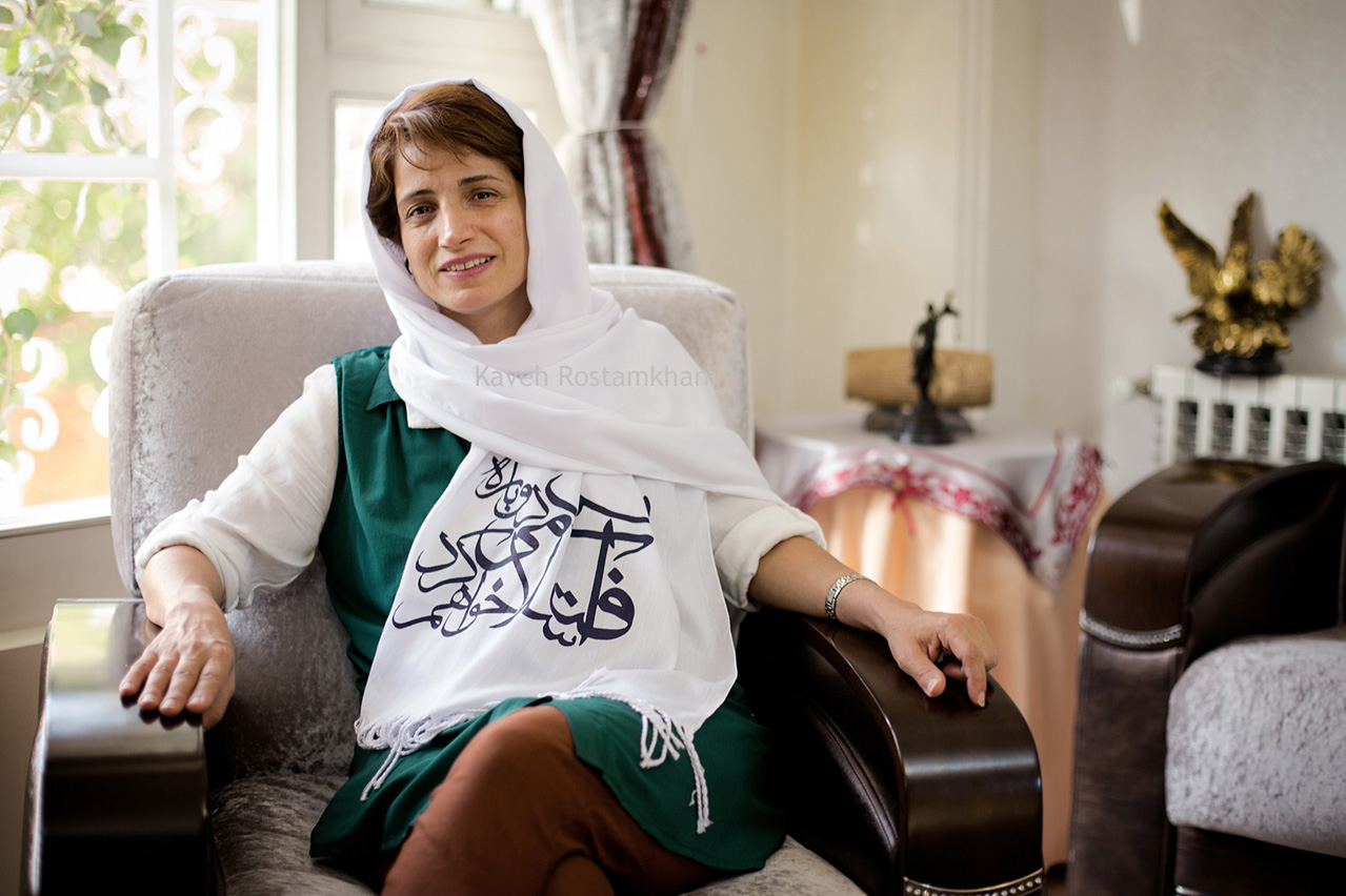 Nasrin Sotoudeh, Iranian Human Rights Lawyer and former political prisoner
